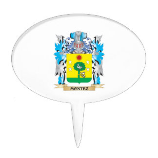 Montez Coat of Arms - Family Crest Cake Toppers