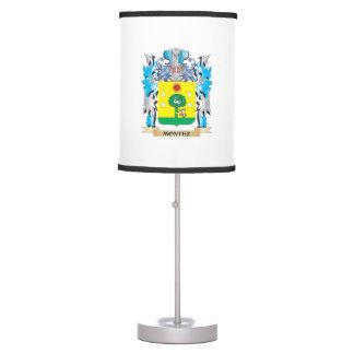 Montez Coat of Arms - Family Crest Desk Lamps