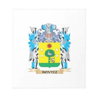 Montez Coat of Arms - Family Crest Note Pad