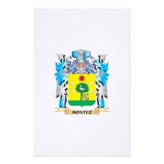 Montez Coat of Arms - Family Crest Custom Stationery