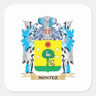 Montez Coat of Arms - Family Crest Stickers