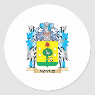 Montez Coat of Arms - Family Crest Sticker