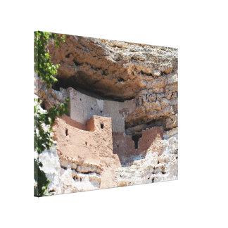 Montezuma Castle Cliff Dwelling - NM Landmark Canvas Print