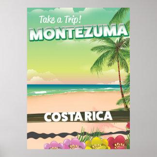 Montezuma Costa Rica beach travel poster