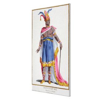 Montezuma, el emperador de México (1466-1520) 1780 Lona Envuelta Para Galerias