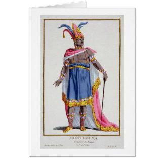 Montezuma, el emperador de México (1466-1520) 1780 Tarjeta