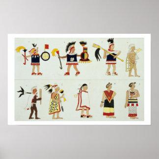 Montezuma II (1466-1520) as represented in an anon Poster