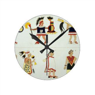 Montezuma II (1466-1520) as represented in an anon Round Clock