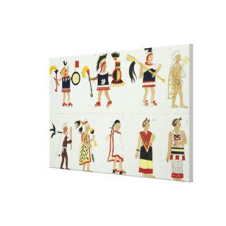 Montezuma II (1466-1520) según lo representado en  Impresiones En Lona