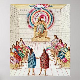Montezuma II and his Council Print