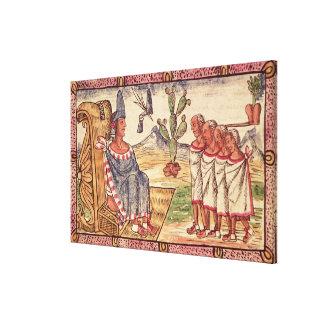 Montezuma II  and his envoys  Spanish Canvas Print