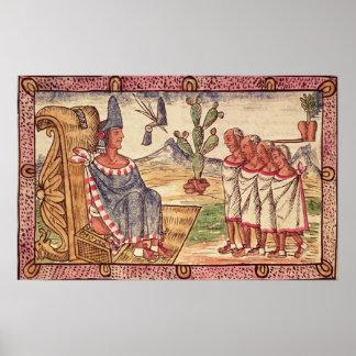 Montezuma II  and his envoys  Spanish Print