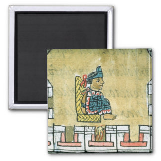 Montezuma II , from the 'Florentine Codex' 2 Inch Square Magnet
