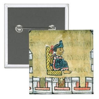 Montezuma II , from the 'Florentine Codex' Button
