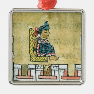 Montezuma II , from the 'Florentine Codex' Metal Ornament