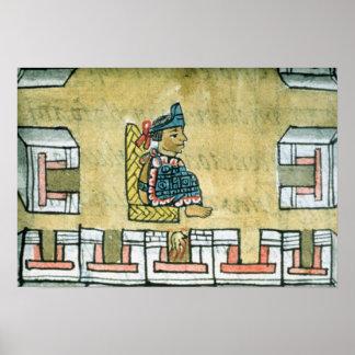 Montezuma II , from the 'Florentine Codex' Poster
