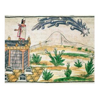 Montezuma II que mira un cometa, 1579 Postales