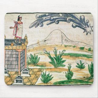 Montezuma II que mira un cometa, 1579 Tapete De Ratones