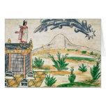 Montezuma II que mira un cometa, 1579 Tarjeta De Felicitación