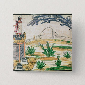 Montezuma II  watching a comet, 1579 Pinback Button