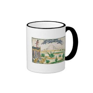 Montezuma II  watching a comet, 1579 Ringer Coffee Mug