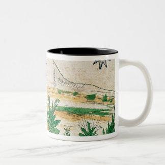 Montezuma II  watching a comet, 1579 Two-Tone Coffee Mug