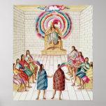 Montezuma II y su consejo Posters