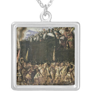 Montezuma Silver Plated Necklace