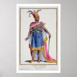 Montezuma, the Emperor of Mexico (1466-1520) 1780 Poster