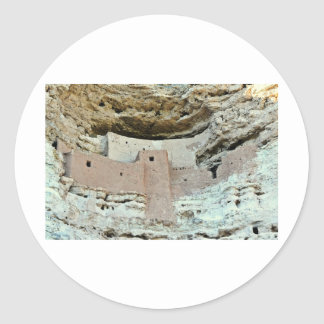Montezuma's castle classic round sticker