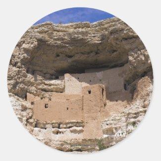 Montezuma's Castle National Monument Round Stickers