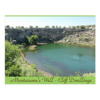 Montezuma's Well Cliff Dwellings Arizona Post Card