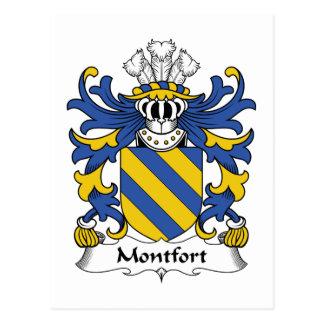 Montfort Family Crest Postcards