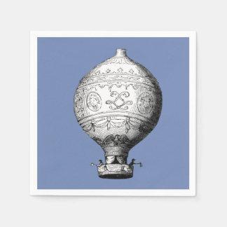 Montgolfier Vintage Hot Air Balloon Paper Napkin