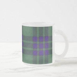 Montgomerie clan Plaid Scottish tartan Frosted Glass Coffee Mug