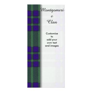 Montgomerie clan Plaid Scottish tartan Rack Card