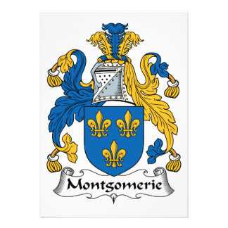 Montgomerie Family Crest Personalized Announcements
