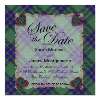 Montgomerie Scottish clan tartan - Plaid Card