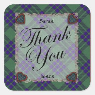 Montgomerie Scottish clan tartan - Plaid Square Sticker