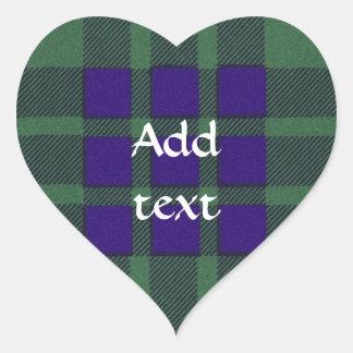 Montgomerie Scottish Tartan Heart Sticker