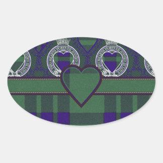 Montgomerie Scottish tartan Oval Sticker