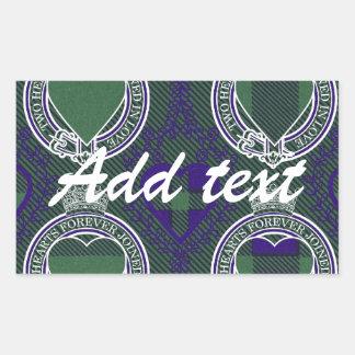 Montgomerie Scottish tartan Rectangular Sticker