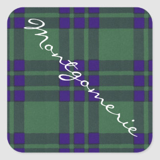 Montgomerie Scottish Tartan Square Sticker