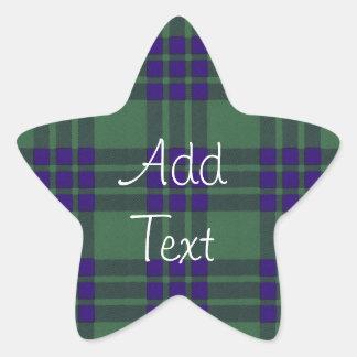 Montgomerie Scottish Tartan Star Sticker
