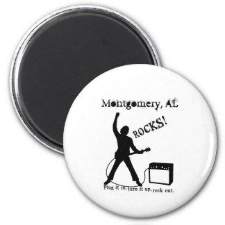 Montgomery, AL 2 Inch Round Magnet
