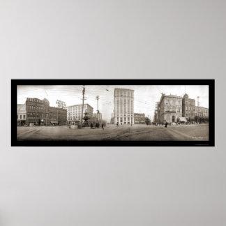 Montgomery AL Square Photo 1909 Poster
