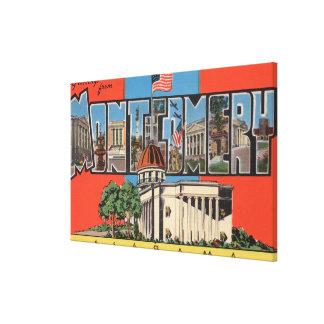 Montgomery, Alabama (Capital Bldg) Gallery Wrap Canvas
