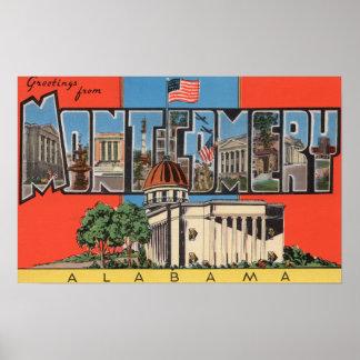 Montgomery, Alabama (Capital Bldg) Poster