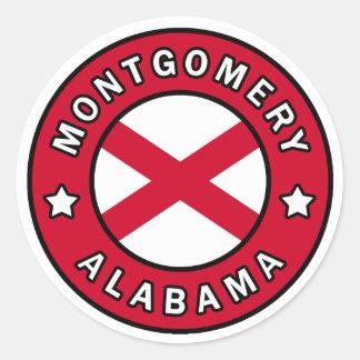 Montgomery Alabama Classic Round Sticker