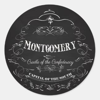 Montgomery Alabama - Cradle of the Confederacy Classic Round Sticker